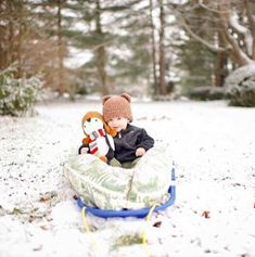 (Photo courtesy of @happily_kate)  Winter Fun Ideas for ChildrenIt's around this time every year we become SO DONE with winter. We're ready to pack up our lives