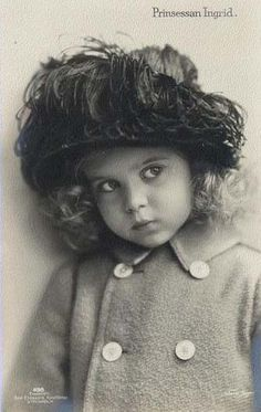 Lovely Little Princess Ingrid of Sweden, future Queen of Denmark