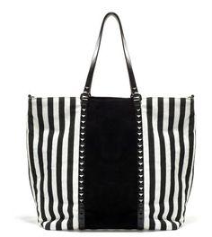 Shopping Bag rayas y tachuelas