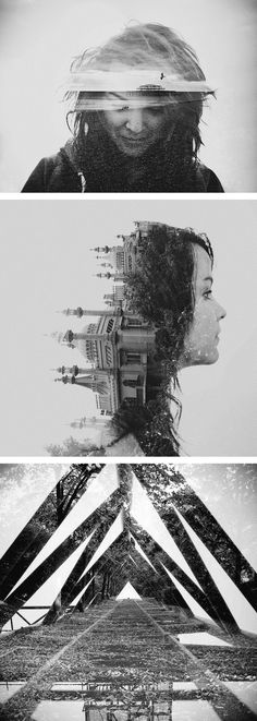 Double exposure photography by dan mountford. by katherine a level photography, double exposure photography Trucage Photo, Photo Deco, Photo Art, Photography Projects, Creative Photography, Amazing Photography, Portrait Photography, Fashion Photography, Photography Tips