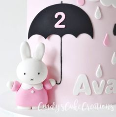 Up close and personal with my cutesy little fondant Miffy #cake #cakegram #cakesofinstagram #caketopper #instacake #cakestagram #cakeporn #cakeporm #cakedesign #customcakes #cindyscakecreations #miffy #miffycake #birthdaycake #cute #pretty #sweetstyling #desserttable #dessertstyling #partyideas #kidspartyideas #sugarart #edibleart #baking #cakedecorating