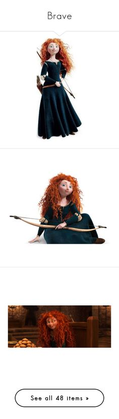 """""""Brave"""" by holly-the-fangirl ❤ liked on Polyvore featuring disney, brave, merida, characters, costumes, merida halloween costume, princess costume, princess halloween costumes, merida costume and pic"""