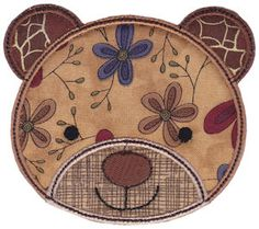 Embroidery | Free Machine Embroidery Designs | Bunnycup Embroidery | Cute Animal Faces Applique