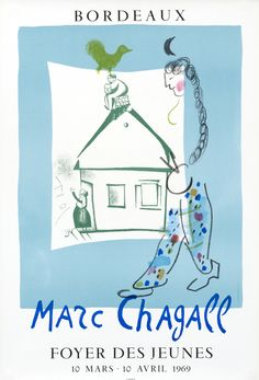 Marc Chagall - Foyer des Jeunes Bordeaux by Chagall, Marc | Shop original vintage art posters online: www.internationalposter.com
