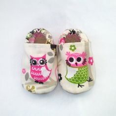 Baby Girl Owl Shoes by QuinnleesBoutique on Etsy, $19.00