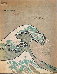 海 (ドビュッシー)の楽譜表紙♥このタイポ、凄くいい♥