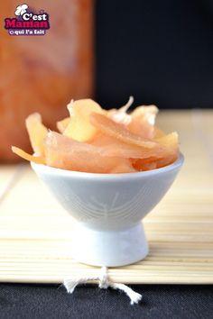 Gingembre pour sushi - recette de gingembre au vinaigre - gari
