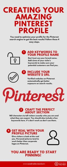How To Optimizing Your Pinterest Profile | Pinterest is a search engine.  Your profile name should be optimized like you would a web page, rather than just branding it as you would on other social media networks.  (scheduled via http://www.tailwindapp.com?utm_source=pinterest&utm_medium=twpin&utm_content=post106645063&utm_campaign=scheduler_attribution)