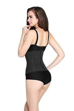 49242706d60 Women Waist Trainer Corset for Weight Loss Sport Workout Latex Body Shaper  at Amazon Women s Clothing store