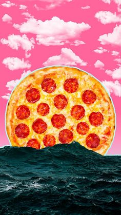Post with 8 votes and 467 views. Tagged with pizza, sea, vaporwave, aesthetics, vaporwaveaesthetic; Shared by haha i wanna die Pizzeria, Pizza Restaurant, Food Wallpaper, Iphone Wallpaper, Comida Pizza, Pizza Branding, Pizza Life, Haha, Pizza Art