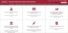 An example of standout content in the best school website design trends. Pop Website, School Fun, High School, Private School, Site Design, Design Trends, No Response, Student, Content