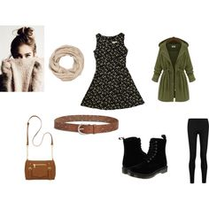 Autumn walk by konaki on Polyvore featuring Donna Karan, Dr. Martens, New Directions, Lucky Brand and maurices