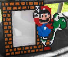 Super Mario Bilderrahmen 10x15 aus Bügelperlen