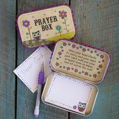 Tan And Purple Pom Poms Owl Prayer Box