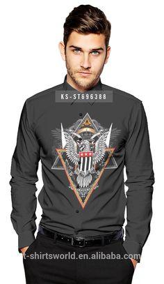 2016 Fashion Summer Custom Printing Slim Long Sleeve Men's Shirt #rugby_clothing, #Shirts
