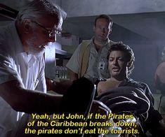 BROTHERTEDD.COM - dailyflicks: JURASSIC PARK (1993) dir. Steven... Jurassic Park 1993, Steven Spielberg, Pirates Of The Caribbean, Cartoon, Movies, Films, Cinema, Movie, Cartoons