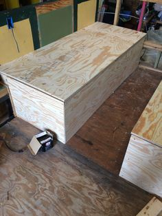 Bed boxes skinned and test fitting the lid