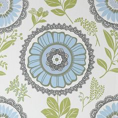 Love this wallpaperby Amy Butler.  Wish the pattern wasn't so big, it's perfect for inside my pantry!