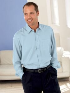 blue or cream silk shirt
