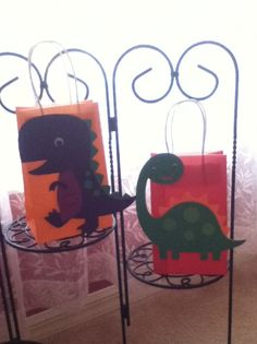 Cute Dinosaur party bags by Onecraftyhippo on Etsy, $2.00