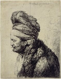 Rembrandt, The Second Oriental Head.                                                                                                                                                                                 More