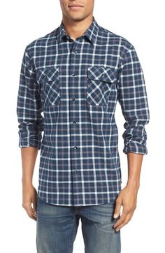 James Campbell Plaid Sport Shirt available at #Nordstrom