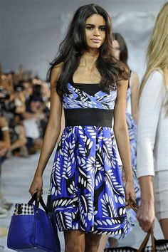 4e70f12a5d14af Spring 2015  This is a sleeveless blue  white  black print dress with black  · Black PrintFashion PicturesDiane Von FurstenbergSpring ...