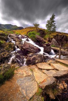 Path up from Llyn Ogwen, Snowdonia, Wales