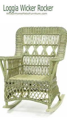 The Loggia Rocker is a great addition to any home with its rattan construction. Handmade in Philippines by craftsmen from natural materials. This piece is also available in plenty of finishes for the perfect fit in any home. Wicker Rocker, Wicker Rocking Chair, Wicker Chairs, Patio Chairs, Porch Furniture, Rattan Furniture, Outdoor Furniture, Vintage Furniture, Dining Arm Chair