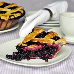 The Best Blueberry Pie - seasonal blueberries make for a delicious blueberry pie in this decades old recipe.