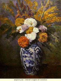 Paul Cézanne. Dahlias. Olga's Gallery.