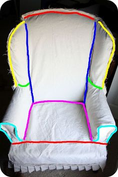 Slipcover tutorial for wing back chair
