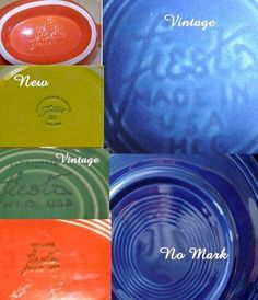Hereare some of the original Fiestaware dishes and their marks.