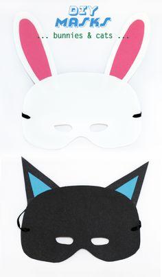 petit à petit and family: DIY: minimal masks Animal Masks For Kids, Animals For Kids, Mask For Kids, Cute Kids, Cute Babies, Baby Kids, Baby Baby, Diy For Kids, Crafts For Kids