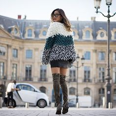 dreaming of paris & this chic shaggy coat by @tularosalabel