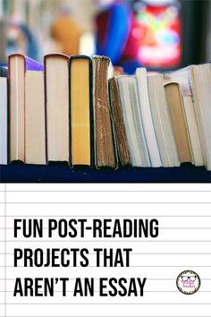 If you're finishing up a novel study or a round of independent reading, or need some fun book report ideas for middle or high school, consider one of these alternative projects for a post-reading assessment.