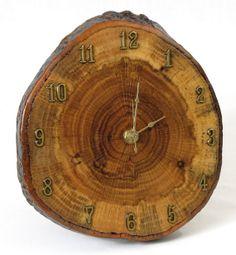 Red Oak Tree Slice Wall Clock by MissouriNatureArt on Etsy, $49.00