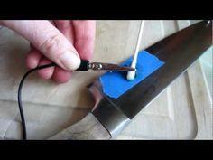 Metal Etching - YouTube Schablone mit der Cameo schneiden und dann mit der Heimelektrolyse ätzen