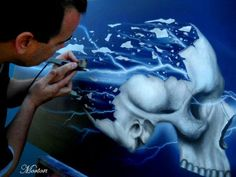 LEARN TO AIRBRUSH REALISTIC SKULLS