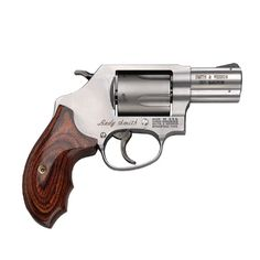 The Smith & Wesson Model 60 LadySmith revolver has a satin finish that provides an overall pleasing appearance, while a solid forged stainless steel chassis ensures longevity.