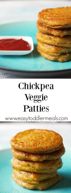 Chickpea Veggie Patties Jammed pack with carbs, protein, and veggies, these bites are bound to be a family favorite! Easy Toddler Meals, Toddler Snacks, Kids Meals, Baby Meals, Toddler Recipes, Toddler Stuff, Baby Food Recipes, Snack Recipes, Cooking Recipes