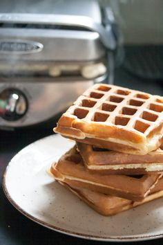 Egg Nog Waffles - note healthy at all, but maybe for Christmas morning