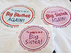 Big brother/sister shirts