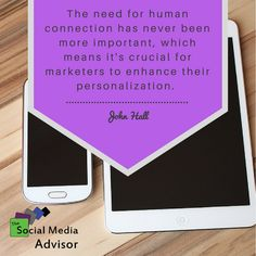 The key is finding a way to make, and nurture, human relationships through digital marketing. #learnsocialmedia #AwesomeTools #marketingmatters