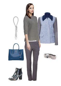 Образ в ваше цветовой гамме. Можно адаптировать для офиса, если заменить обувь на более сдержанный вариант.