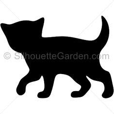 Kitten Silhouette