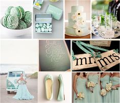 Mint Wedding Ideas and Wedding Invitations Mint Wedding Decor, Coral Wedding Themes, Wedding Mint Green, Unique Wedding Cakes, Unique Weddings, Wedding Colors, Wedding Decorations, Wedding Day, Mint Weddings