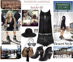 """""""MADISON HARDING AND LUST FOR LIFE MUSIC FESTIVAL STYLE"""" by margaretferreira ❤ liked on Polyvore"""