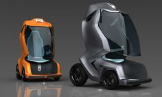 Electric MYLE: a super-sub-compact single-person electric transporter inspired by and designed for urban areas in India. Less than half the size of a compact car, climate controlled, and highly maneuverable. Designer: Sivakumar Thangavelu