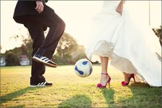 Soccer on the wedding day -- yes!